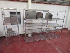 Syspal & Teknomek Cabinets & Dispensers and 3 Bays of Wire Racking