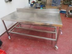 Stainless Steel Mobile Prep Table etc