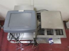 2 x Weighing Platforms, Digital Read Out, Stainless Steel Cabinet & Bench