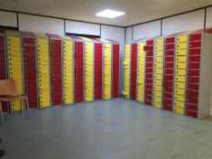 20 x Banks of 16 key operated lockers etc