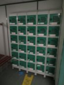 38 x Banks of 6 combination lockers etc