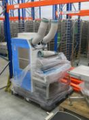 Airpex Air Conditioning Unit, stainless steel lidded sink unit & concertina conveyor