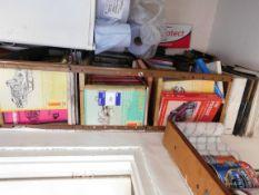 Assortment Haynes manuals to shelving