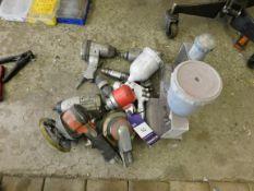 Assortment of air driven hand tools