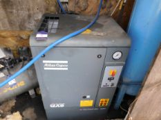 Atlas Copco GX5 Compressor with Free Standing Tank – Disconnection required by a qualified engineer