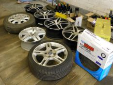 Assortment of spare wheels/alloys