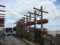 9 bays Double Sided Steel Cantilever Racking Please Note Buyer to Remove PLEASE NOTE This lot is to
