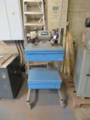 Two Drawer Storage Trolley fitted with Draper Double End Grinder