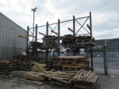 5 bays of Steel Cantilever Racking Please Note Buyer to Remove PLEASE NOTE This lot is to be collect