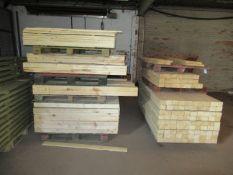 2 x stacks of various Beams and Timber
