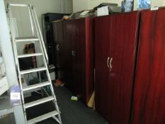 4 x wooden Two Door Cupboards including the contents Please Note Buyer to Remove