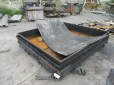 Paint Dipping Tank in a Wooden Carte Approx Dims 2390mm x 2480mm x 450mm