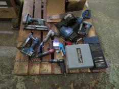 Pallet to contain 2 Pneumatic Staple Guns, Pneumatic Nail Gun, Pneumatic Drills etc