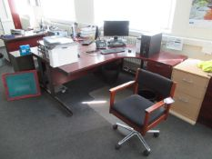 Qty of Office Furniture, Office Desks, Office Mobile Chairs, Pedestals Please Note Buyer to Remove