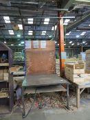 Cantilever Metal Workbench with Tigon Balancer and Air Hoses