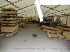 Qty of Wood Stock inside the Tent Please Note Buyer to Remove