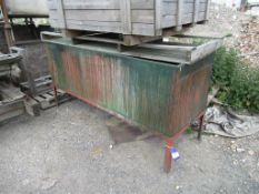 Paint Dipping Tank on a Metal Frame Approx Dims 2260mm x 750mm x 700mm