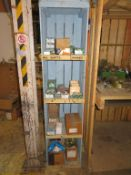 8 Shelves to include Qty of Woodworking Screws, Industrial Staples, Bolts etc
