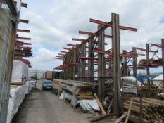 8 bays of Steel Cantilever Racking Please Note Buyer to Remove PLEASE NOTE This lot is to be collect