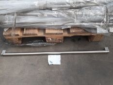 (ED22) PALLET TO CONTAIN 180 x NEW 835x22MM BOSS HANDLES CHROME. RRP £78 EACH.