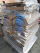 (ED12) PALLET TO CONTAIN 44 ITEMS OF NEW KITCHEN GOODS TO INCLUDE: 24 x MATT WHITE WALL END