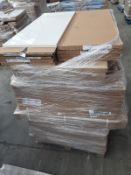 (ED6) PALLET TO CONTAIN 50 ITEMS OF NEW KITCHEN GOODS TO INCLUDE: 18 x 250M DOOR & 69MM POST PACKS