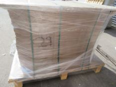 (ED52) PALLET TO CONTAIN 29 x SLAB CASHMERE GLOSS END PANELS.
