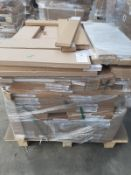 (ED16) PALLET TO CONTAIN 110 ITEMS OF NEW KITCHEN GOODS TO INCLUDE: 600MM FASCIA ONYX GREY, 90 x