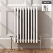 5 BRAND NEW BOXED 600x600mm White Triple Panel Horizontal Colosseum Traditional Radiator. RRP £399.
