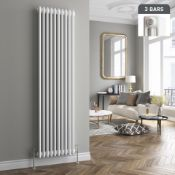 5 BRAND NEW BOXED 1800x380mm White Triple Panel Vertical Colosseum Radiator. RRP £449.99. Made