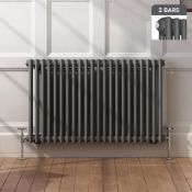5 BRAND NEW BOXED 600x1008mm Anthracite Double Panel Horizontal Colosseum Traditional Radiator.