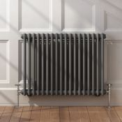 5 BRAND NEW BOXED 600x828mm Anthracite Double Panel Horizontal Colosseum Traditional Radiator.RRP £