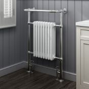 4 BRAND NEW BOXED 952x659mm Large Traditional White Premium Towel Rail Radiator.RRP £449.99.We