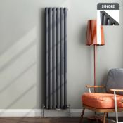4 BRAND NEW BOXED 1600x360mm Anthracite Single Oval Tube Vertical Radiator.RRP £339.99.Made from low