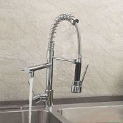 5 BRAND NEW BOXED Bentley Modern Monobloc Chrome Brass Pull Out Spray Mixer Tap. RRP £349.99.This