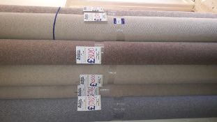 6 x Part Rolls of Various Wool and Polyester Carpet