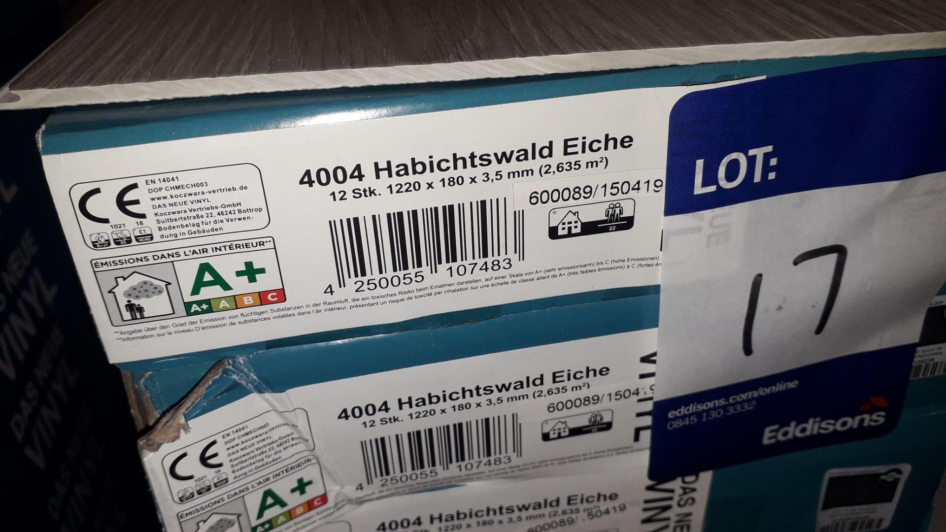 Lot 17 - 9 Packs of Das Neue Vinyl 3.5mm Habichtwald Eiche (Hawk Forest Oak) Vinyl Flooring 2.63m² Per Pack –
