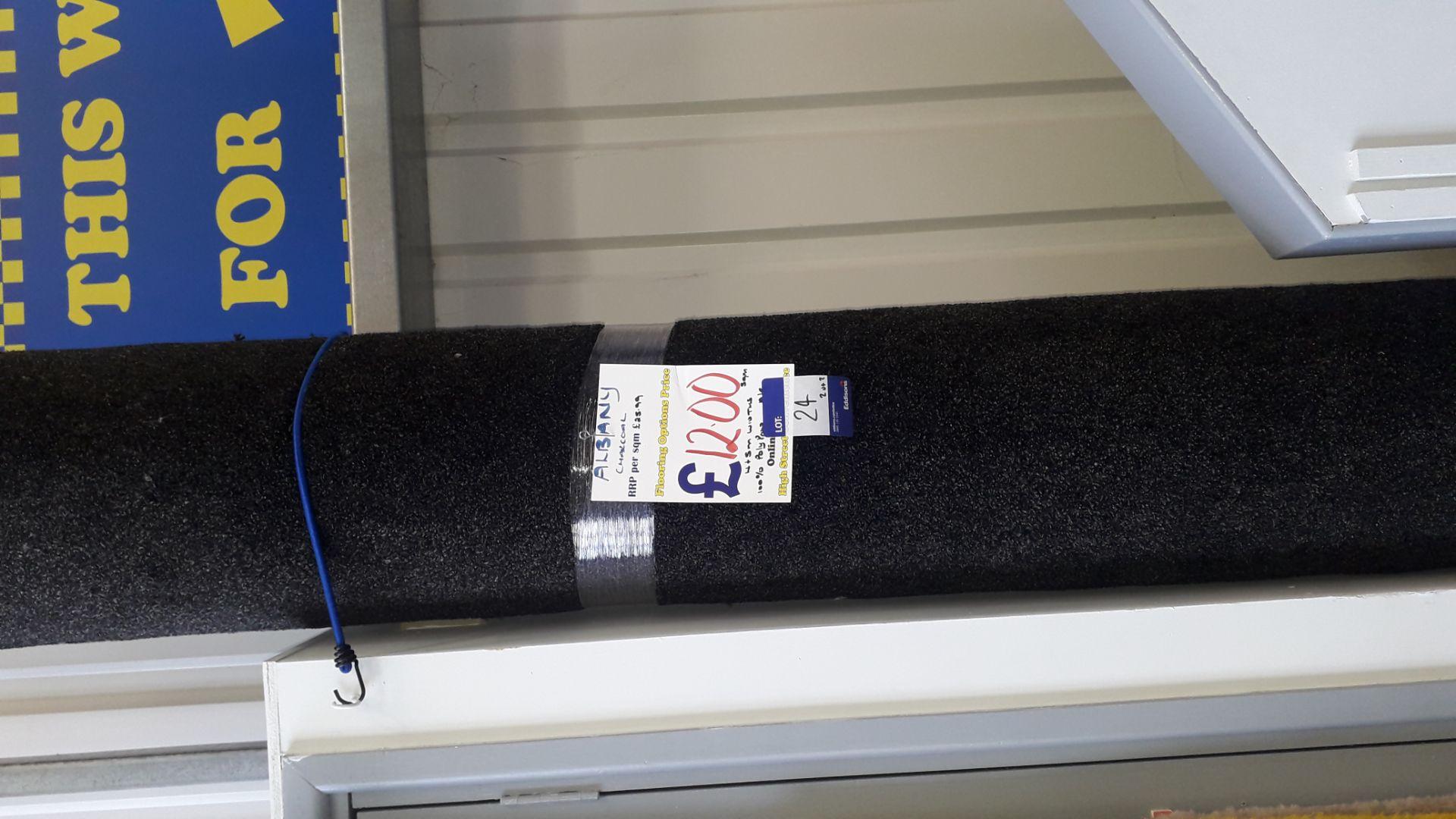 Lot 24 - 2 Rolls of 2.9m x 5m Albeny Carpet ( x Chocolate and 1 x Charcoal) Rp. £12 Sqm