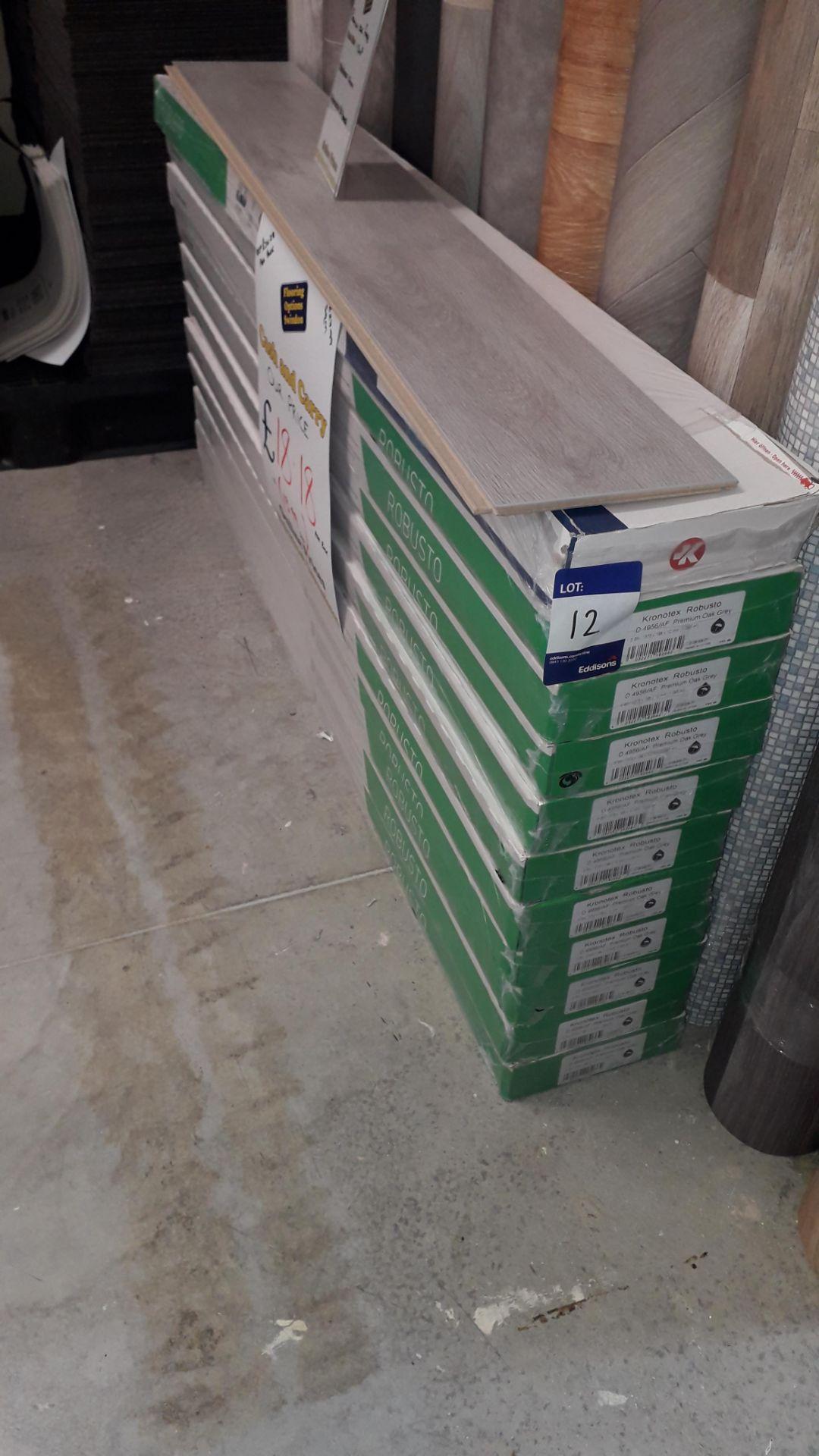 Lot 12 - 11 Packs of Krontex Robusto 12mm Premium Oak Grey Laminate Flooring 1.29m² Per Pack