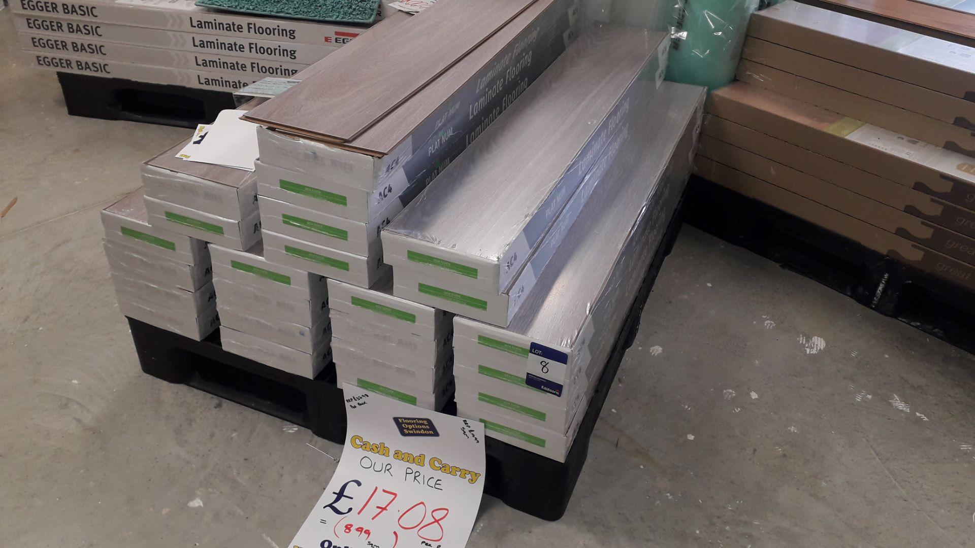 Lot 8 - 24 Packs of Platinum Flooring AC4 (Devonshire Oak) 8mm Laminate Flooring 1.9m² Per Pack – RP £17 per