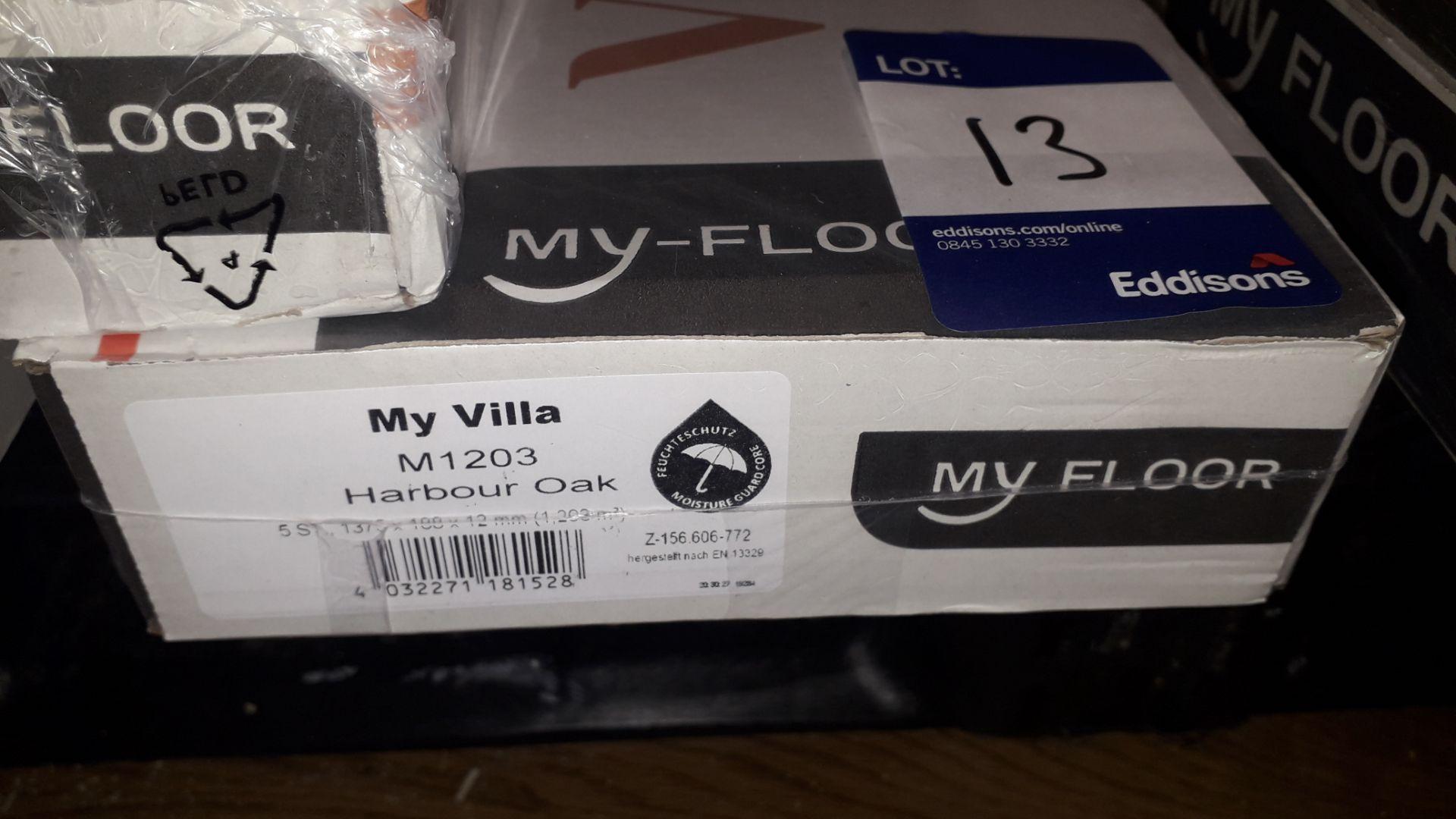 Lot 13 - 12 Packs My Floor 12mm My Villa Harbour Oak Laminate Flooring 1.29m² Per Pack