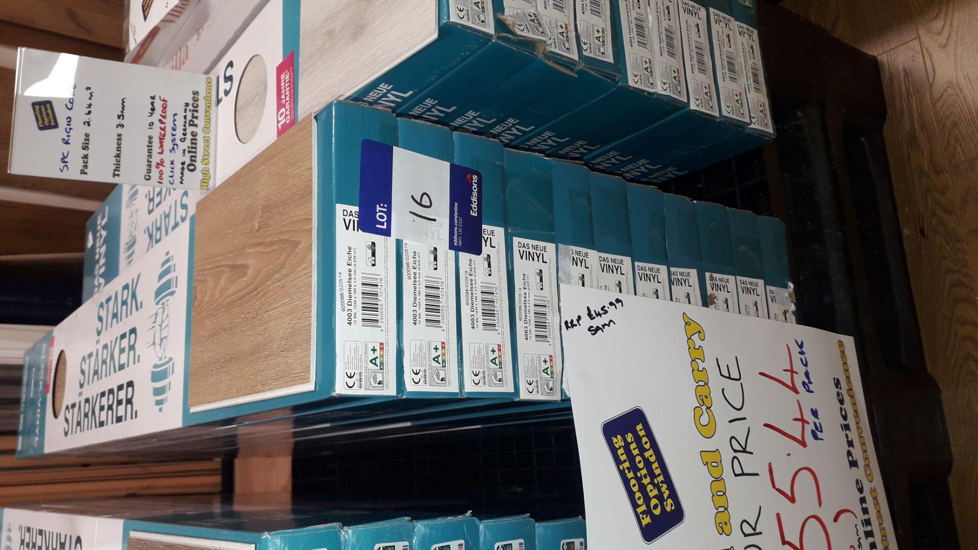 Lot 16 - 11 Packs of Das Neue Vinyl 3.5mm Diemelsee Eiche Vinyl Flooring 2.63m² Per Pack – RP £50 per pack