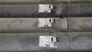 3 x Rolls of Foxfield Carpet Comprising of 1 x Silver 2.90m x 5m , 1 x Taupe 2.80m x 4m, 1 x