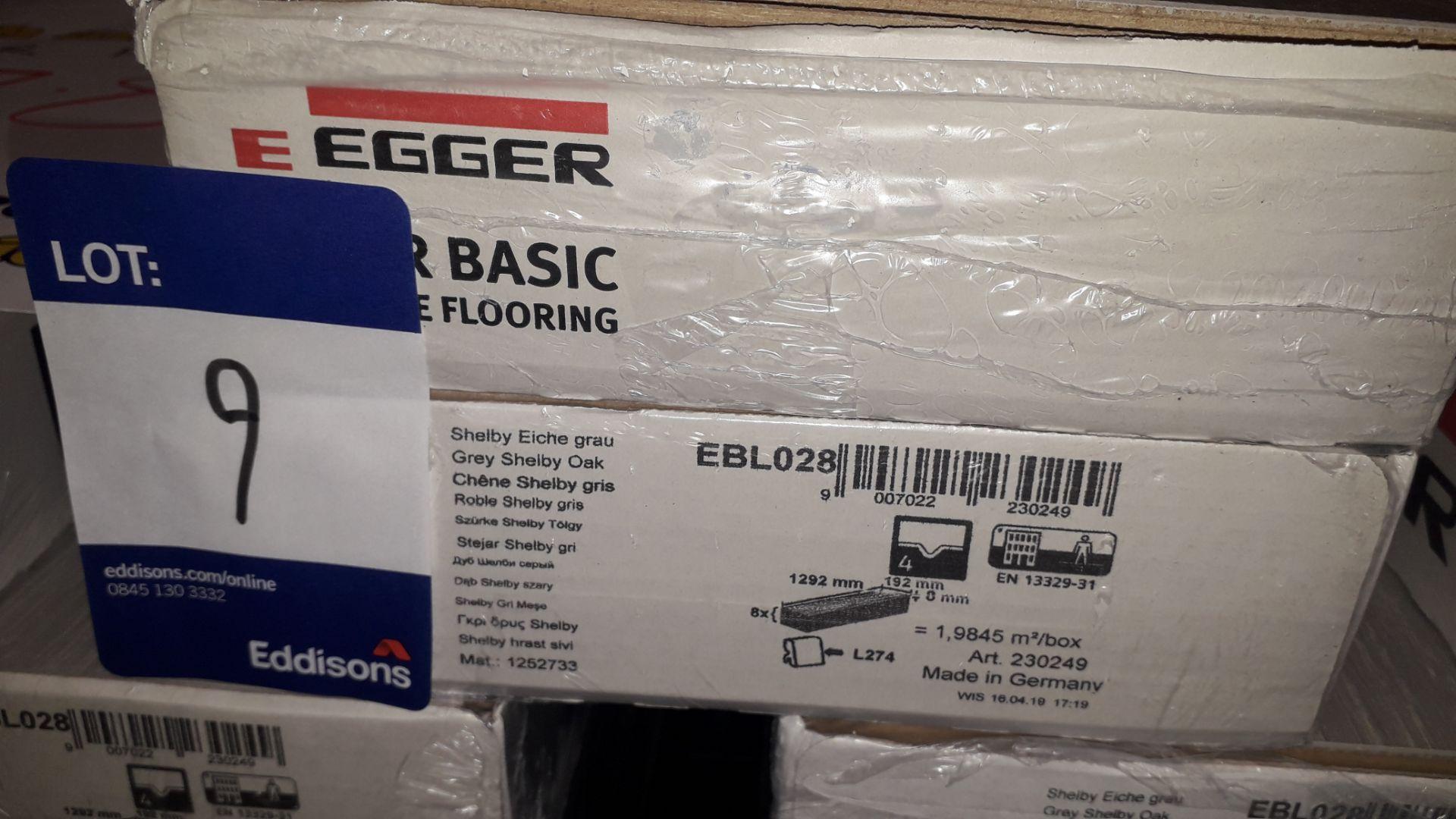 Lot 9 - 20 Packs of Egger Basic Grey Shelby Oak Laminate Flooring 2m² Per Pack