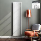 BRAND NEW BOXED 1800x480mm Gloss White Double Oval Tube Vertical Radiator.RRP £499.99.Made from high