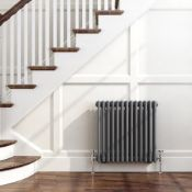 BRAND NEW BOXED 600x600mm Anthracite Double Panel Horizontal Colosseum Traditional Radiator.RRP £