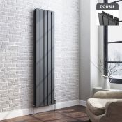 BRAND NEW BOXED 1800x480mm Anthracite Double Flat Panel Vertical Radiator.RRP £499.99.Made with