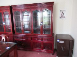The Contents of a House and Garden inc Koi Carp, Cherry Effect Furniture