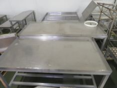 Qty of small Stainless Stands, 2 x Access Platforms, 4 x Lecterns, 2 x Cabinets, Qty of Stainless &