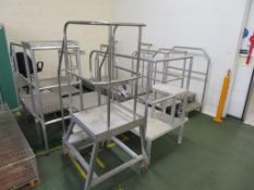 15 x various Stainless Steel & Aluminium Factory Stands, Gantries and Access Steps (the largest with